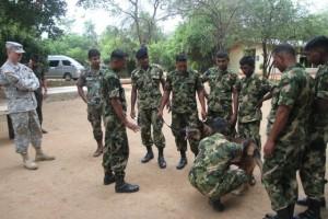 வவுனியாவில் அமெரிக்க அரச படைகள்